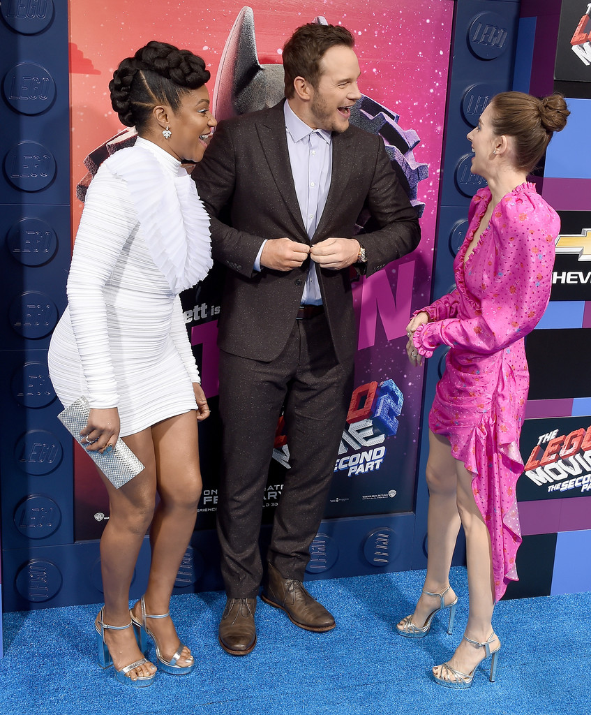 Tiffany Haddish, Chris Pratt and Alison Brie The Lego Movie 2 Second Part Los Angeles Premiere