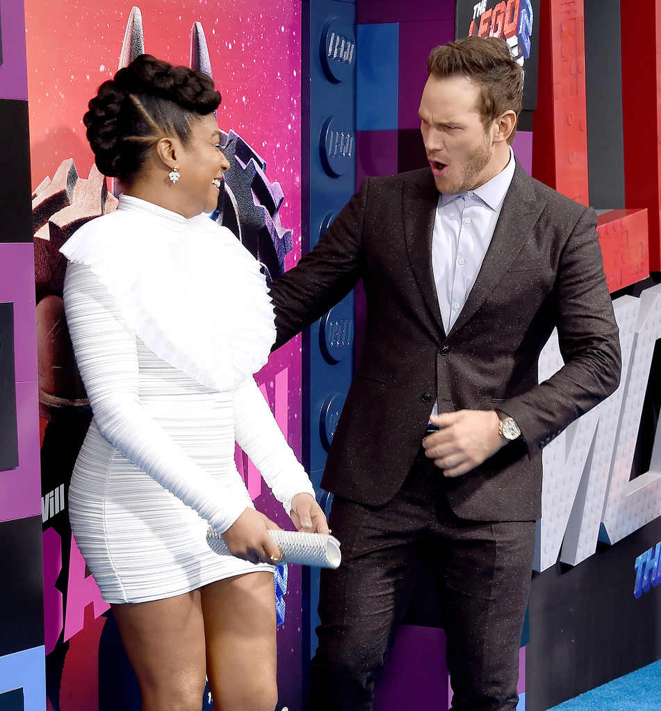 Tiffany Haddish and Chris Pratt The Lego Movie 2 Second Part Los Angeles Premiere