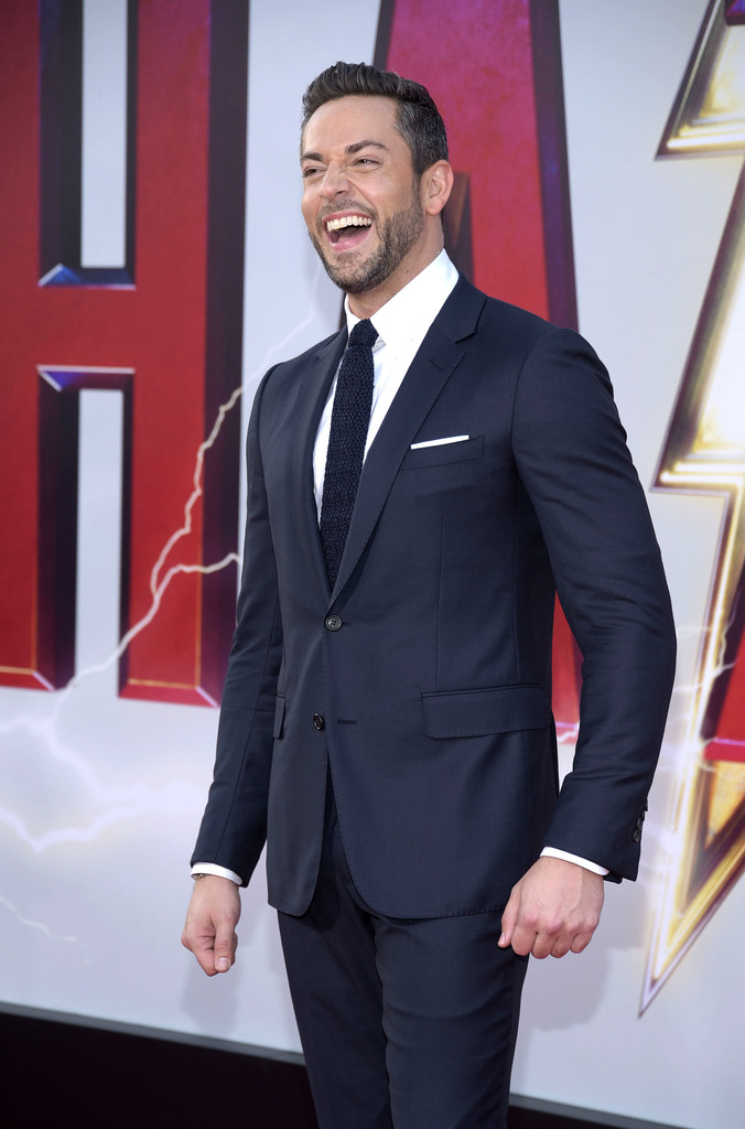 Zachary Levi Shazam! World Premiere Los Angeles