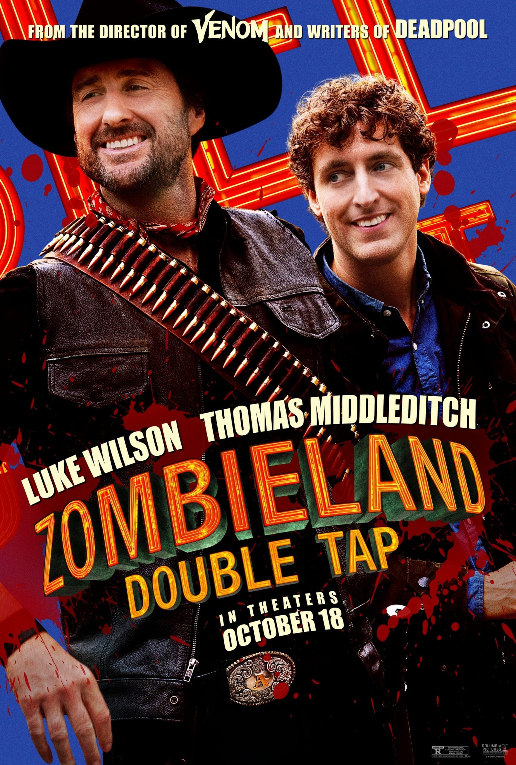 Zombieland Double Tap Character Posters Luke Wilson and Thomas Middleditch as Albuquerque and Flagstaff