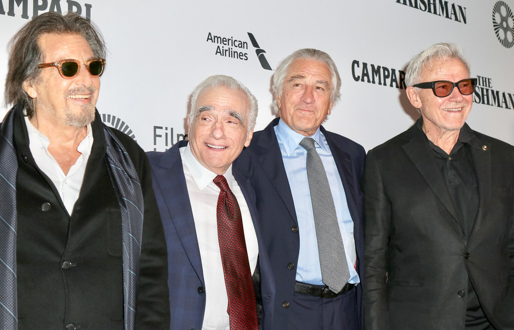 Al Pacino, Martin Scorsese, Robert De Niro and Harvey Keitel The Irishman New York Film Festival Premiere