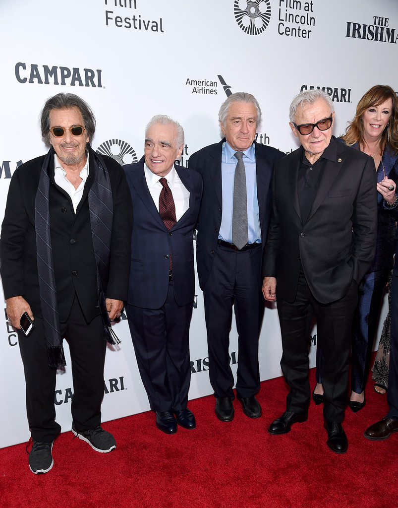 Al Pacino, Martin Scorsese, Robert De Niro and Harvy Keitel The Irishman New York Film Festival Premiere