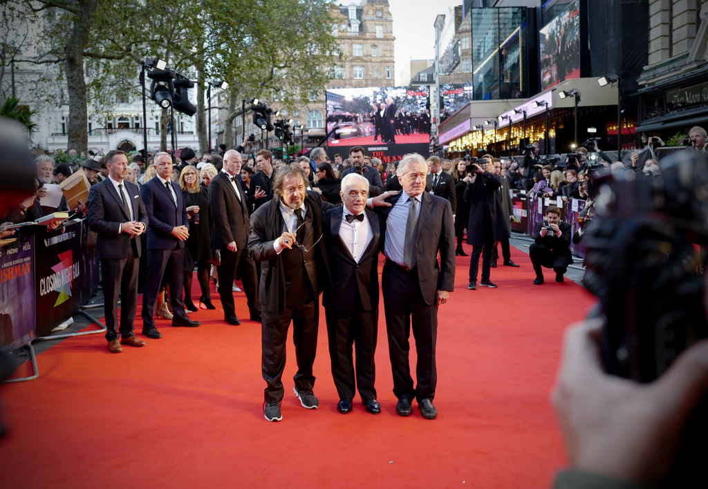 Al Pacino, Martin Scorsese and Robert De Niro The Irishman UK Premiere BFI London Film Festival