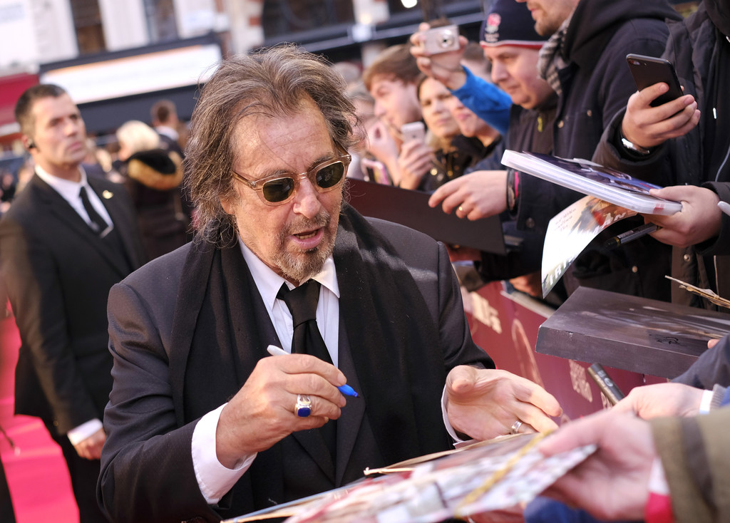 Al Pacino meets fans The Irishman UK Premiere BFI London Film Festival