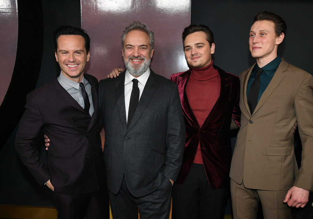 Andrew Scott, Sam Mendes, Dean-Charles Chapman and George Mackay 1917 Hollywood Premiere Los Angeles Universal Pictures