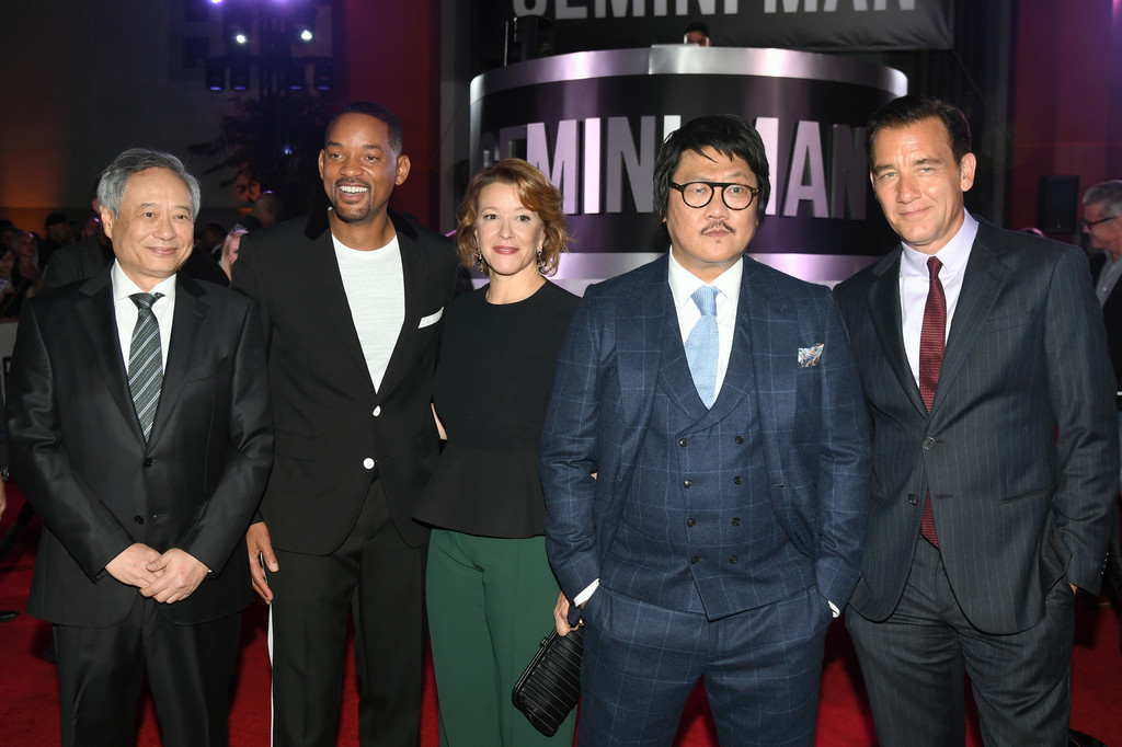 Ang Lee, Will Smith, Linda Emond, Benedict Wong and Clive Owen Gemini Man Hollywood Premiere Los Angeles