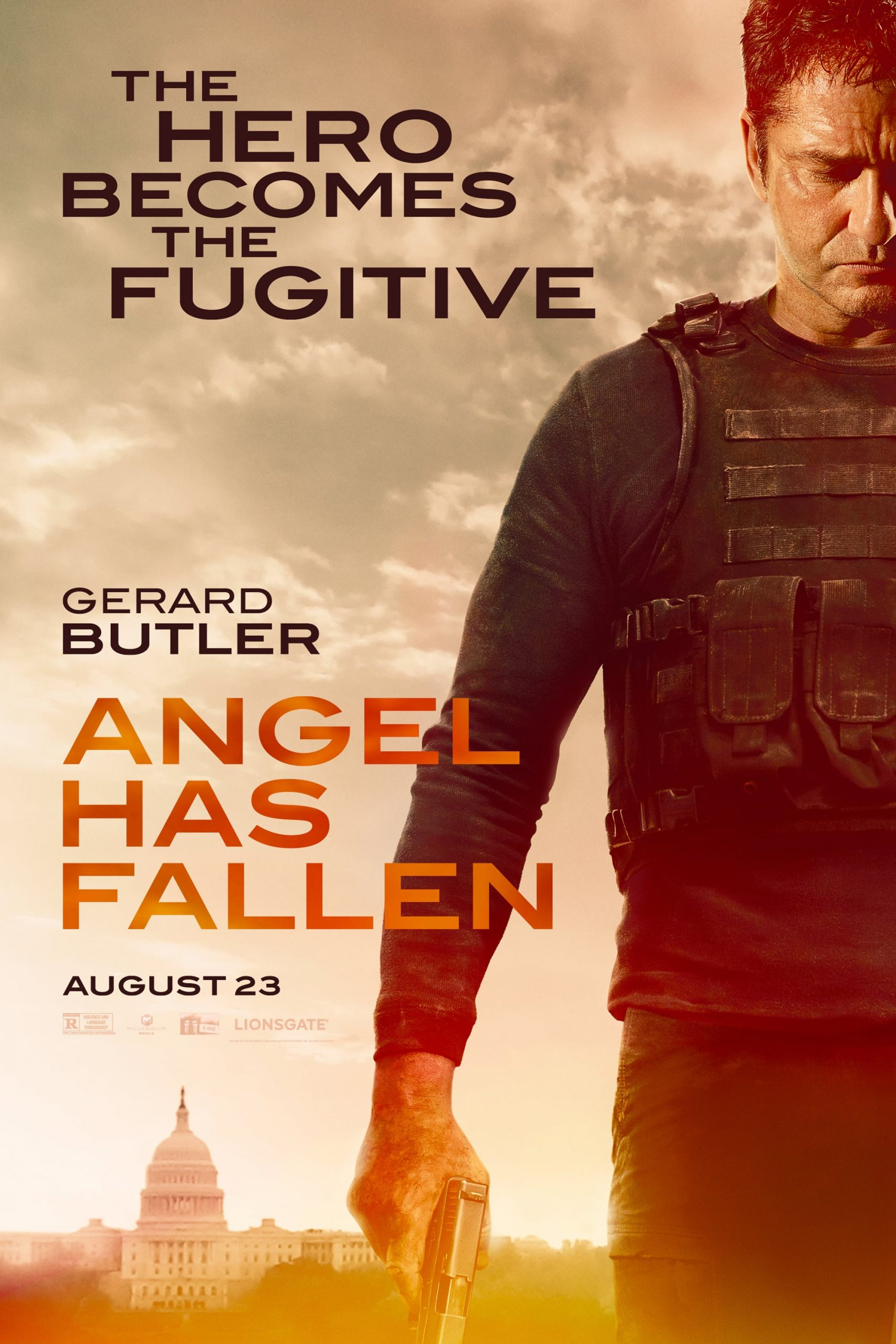 Angel Has Fallen Character Posters Gerard Butler as Secret Service agent Mike Banning