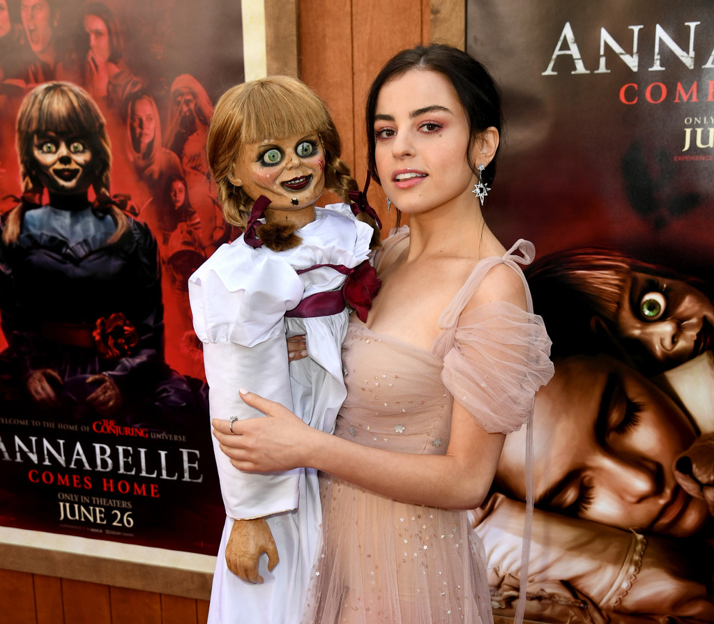 Annabelle and Katie Sarife Annabelle Comes Home Los Angeles Premiere