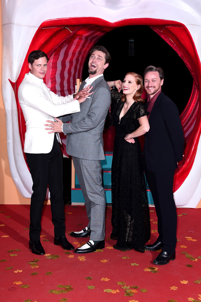Bill Skarsgard, Andy Muschietti, Jessica Chastain and James McAvoy IT Chapter Two European Premiere London Arrivals