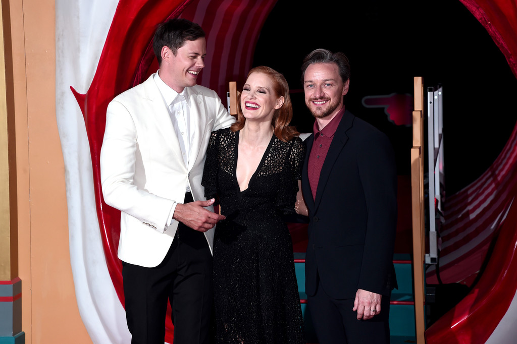 Bill Skarsgard, Jessica Chastain and James McAvoy IT Chapter Two European Premiere London Arrivals