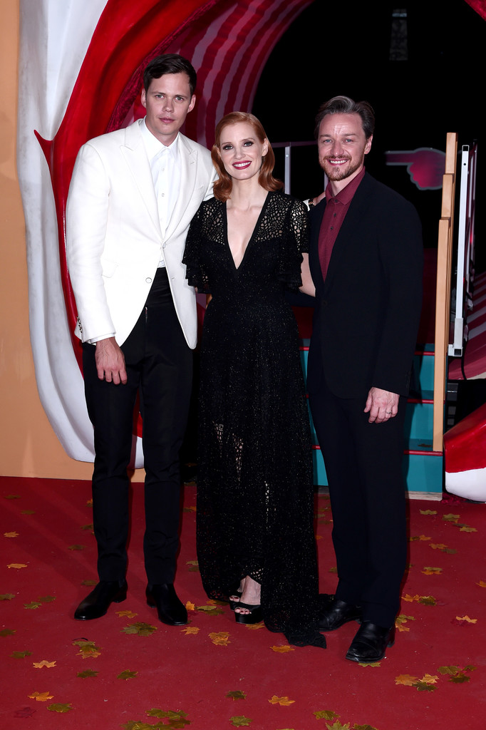 Bill Skarsgard, Jessica Chastaina and James McAvoy attend IT Chapter Two European Premiere London Arrivals