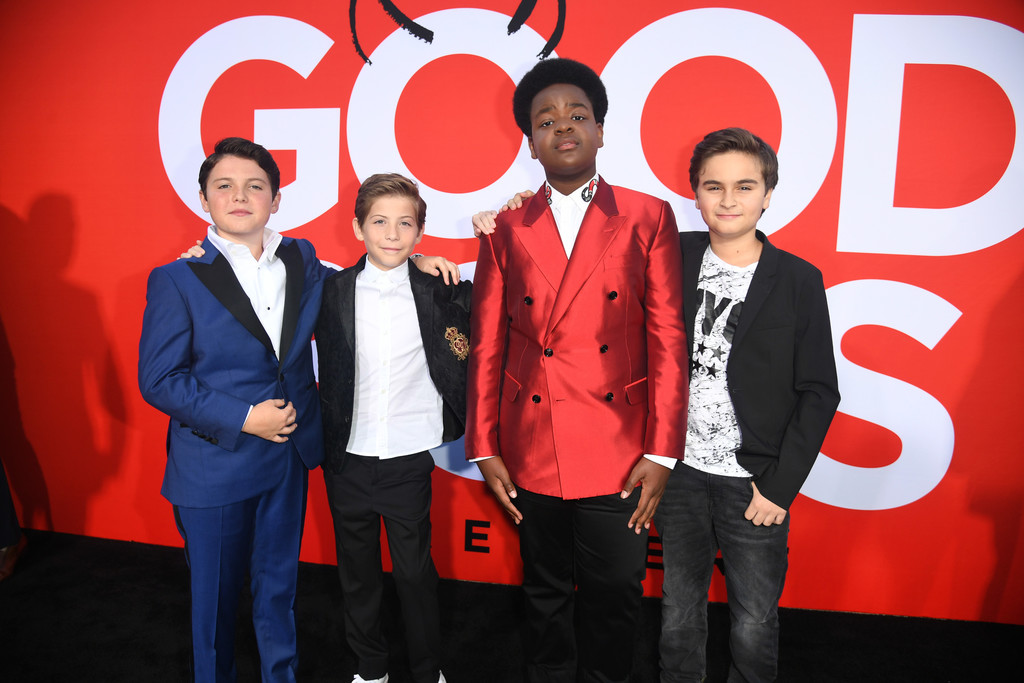 Brady Noon, Jacob Tremblay, Keith L. Williams and Chance Hurtsfield Good Boys Los Angeles Premiere