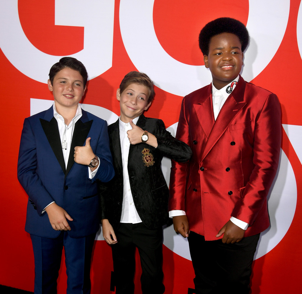 Brady Noon, Jacob Tremblay and Keith L. Williams Good Boys Los Angeles Premiere Arrivals