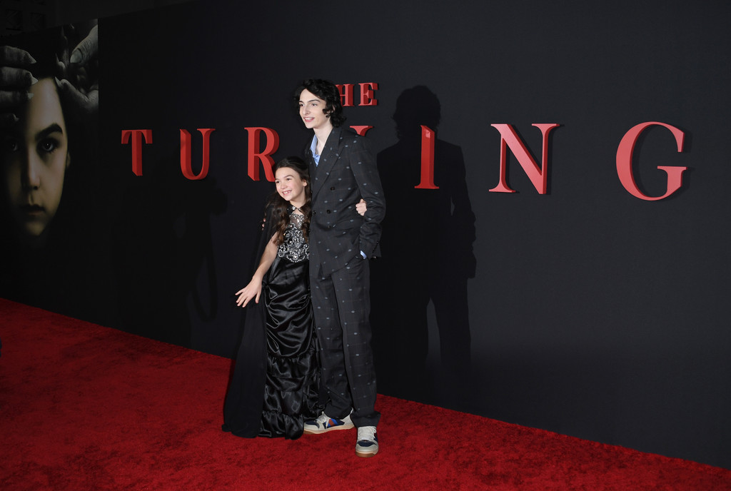 Brooklyn Prince and Finn Wolfhard The Turning Hollywod Premiere Los Angeles Arrivals