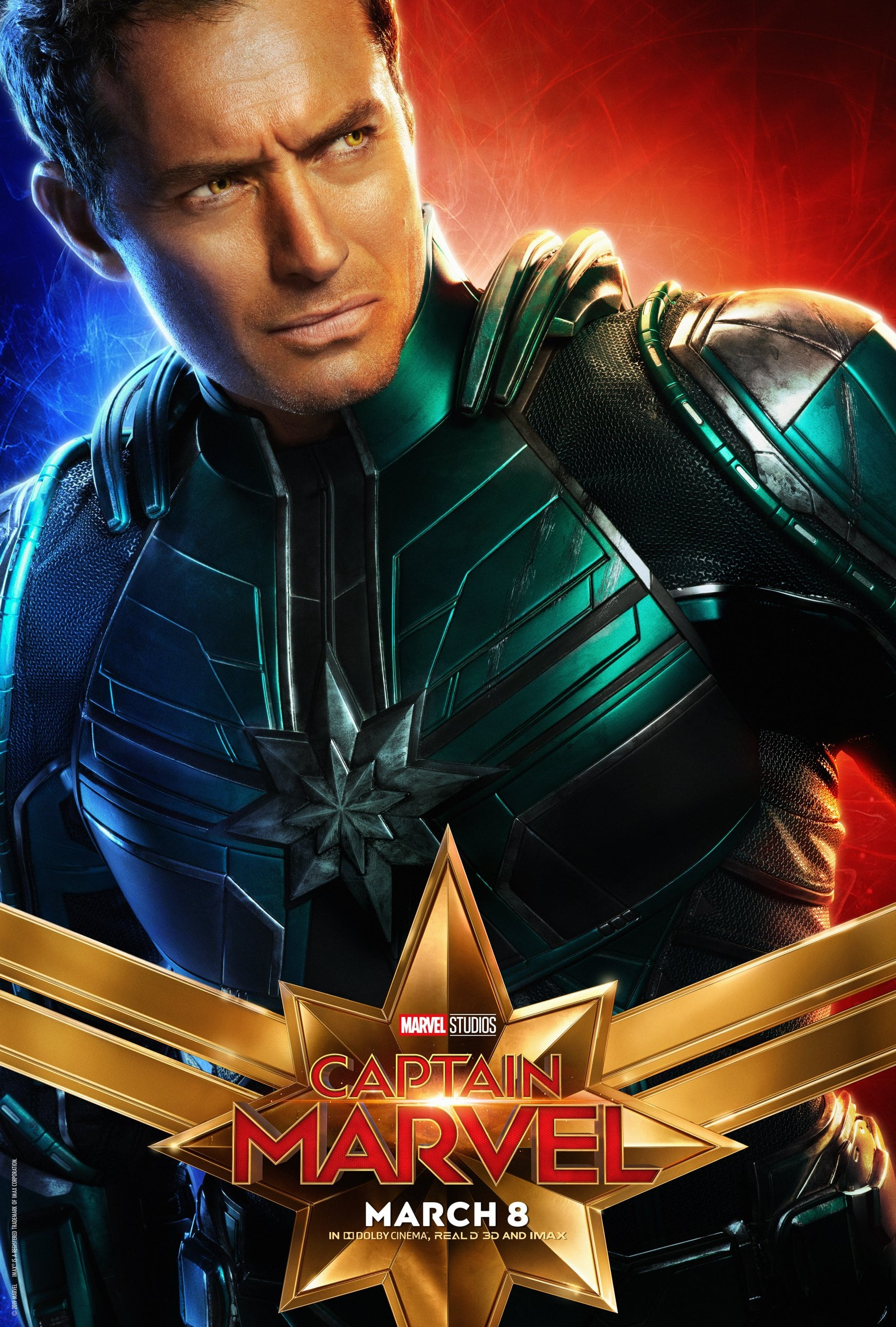 Captain Marvel Character Posters Jude Law as Yon-Rogg