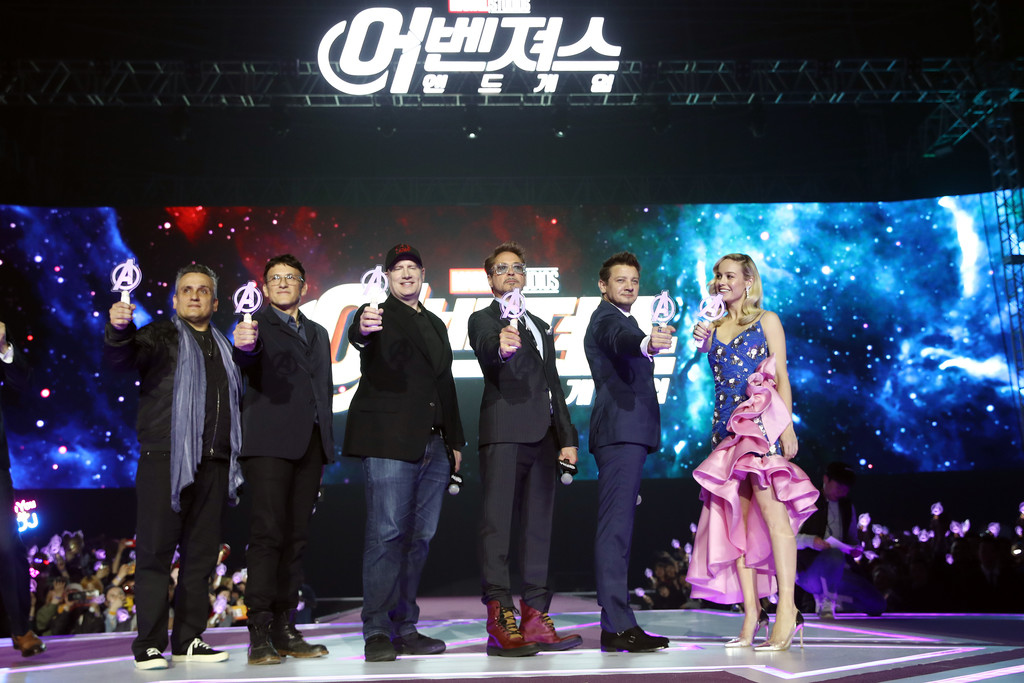 Cast and crew Avengers Endgame Seoul Premiere South Korea 2
