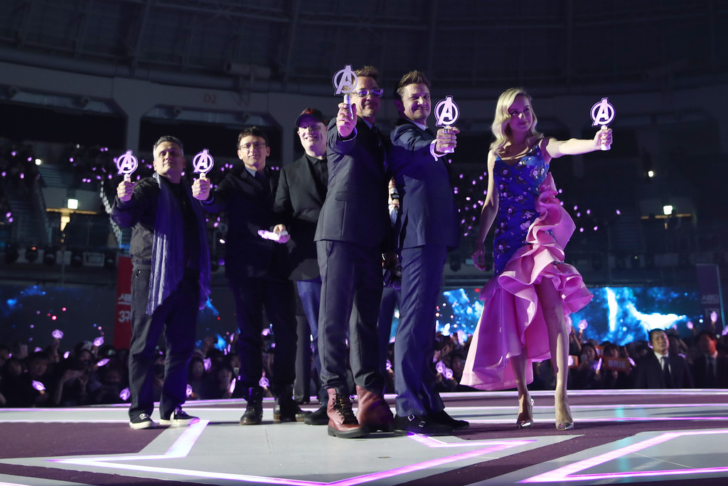 Cast and crew of Avengers Endgame Seoul Premiere South Korea