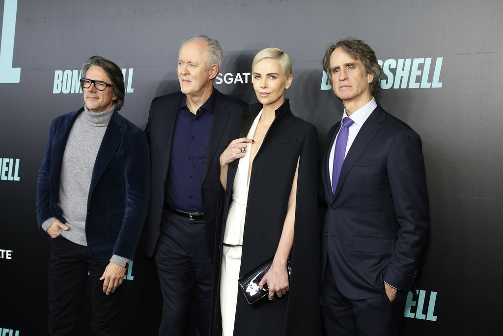 Charles Randolph, John Lithgow, Charlize Theron and Jay Roach Bombshell Special Screening New York City Arrivals