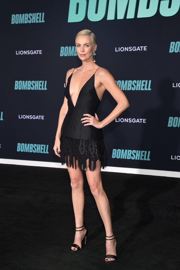 Charlize Theron Bombshell Premiere Hollywood Los Angeles Arrivals