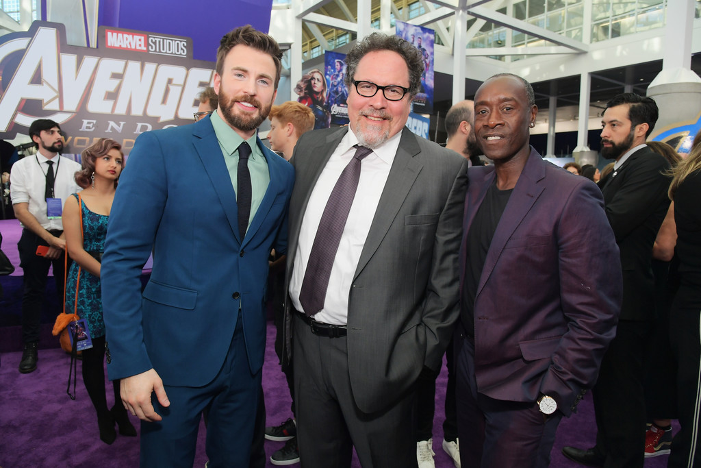 Chris Evans, Jon Favreau and Don Cheadle Marvel Avengers Endgame World Premiere Los Angeles Hollywood