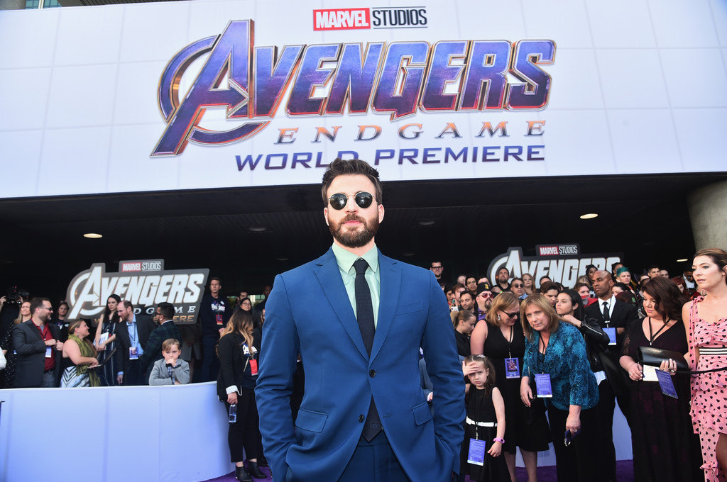 Chris Evans Marvel Avengers Endgame World Premiere Los Angeles Hollywood