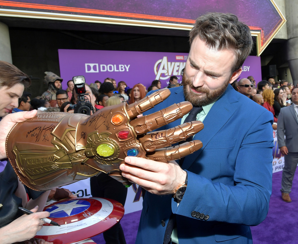 Chris Evans signs for fans Marvel Avengers Endgame World Premiere Los Angeles Hollywood