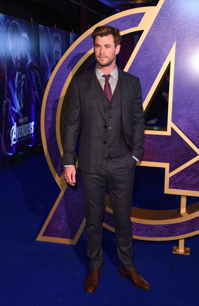 Chris Hemsworth Avengers Endgame UK Premiere London