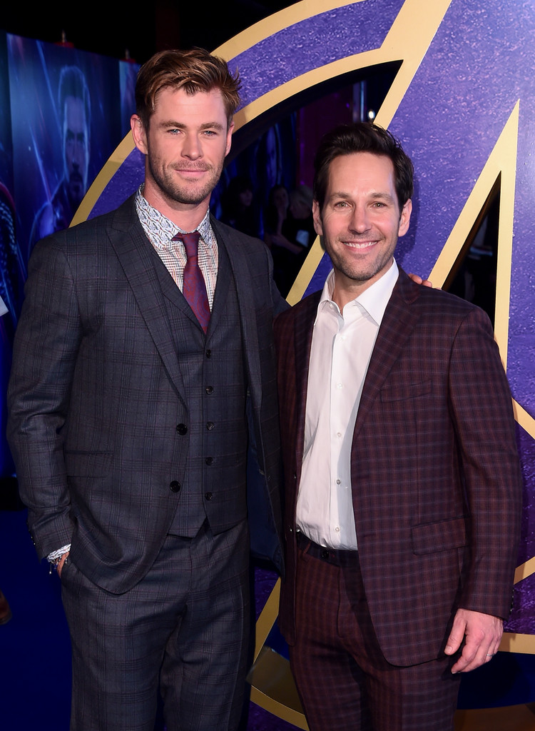 Chris Hemsworth and Paul Rudd Avengers Endgame UK Premiere London