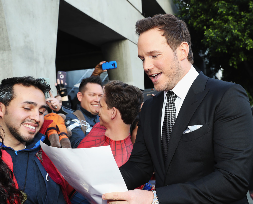 Chris Pratt greets fans Marvel Avengers Endgame World Premiere Los Angeles Hollywood