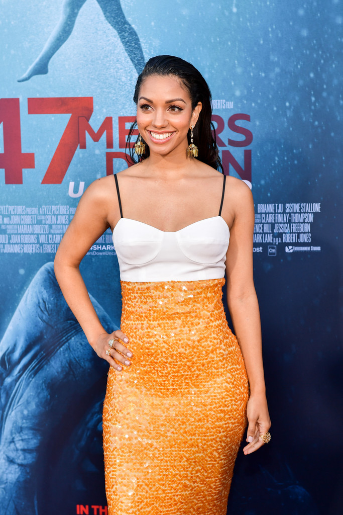 Corinne Foxx 47 Meters Down Uncaged Los Angeles Premiere