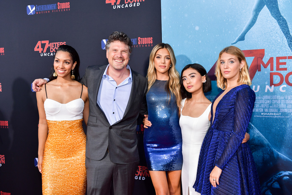 Corinne Foxx, Johannes Roberts, Sistine Stallone, Brianne Tju and Sophie Nelisse 47 Meters Down Uncaged Los Angeles Premiere