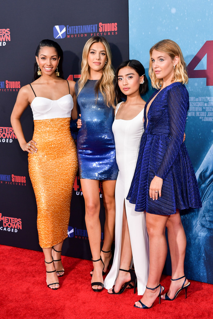Corinne Foxx, Sistine Stallone, Brianne Tju and Sophie Nelisse 47 Meters Down Uncaged Los Angeles Premiere