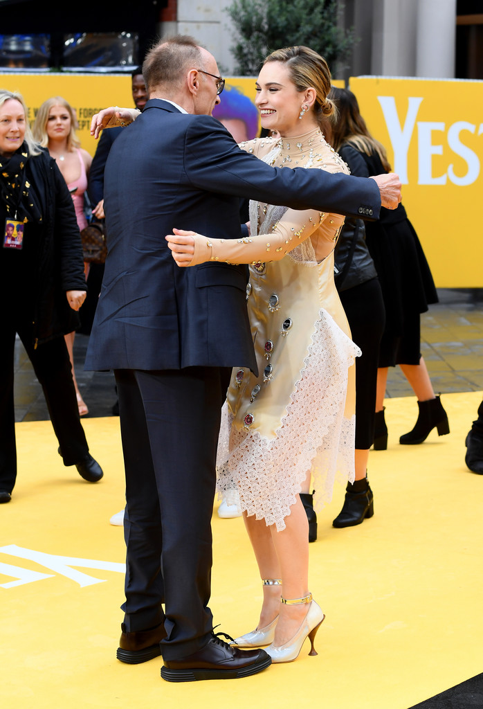 Danny Boyle and Lily James Yesterday World Premiere London