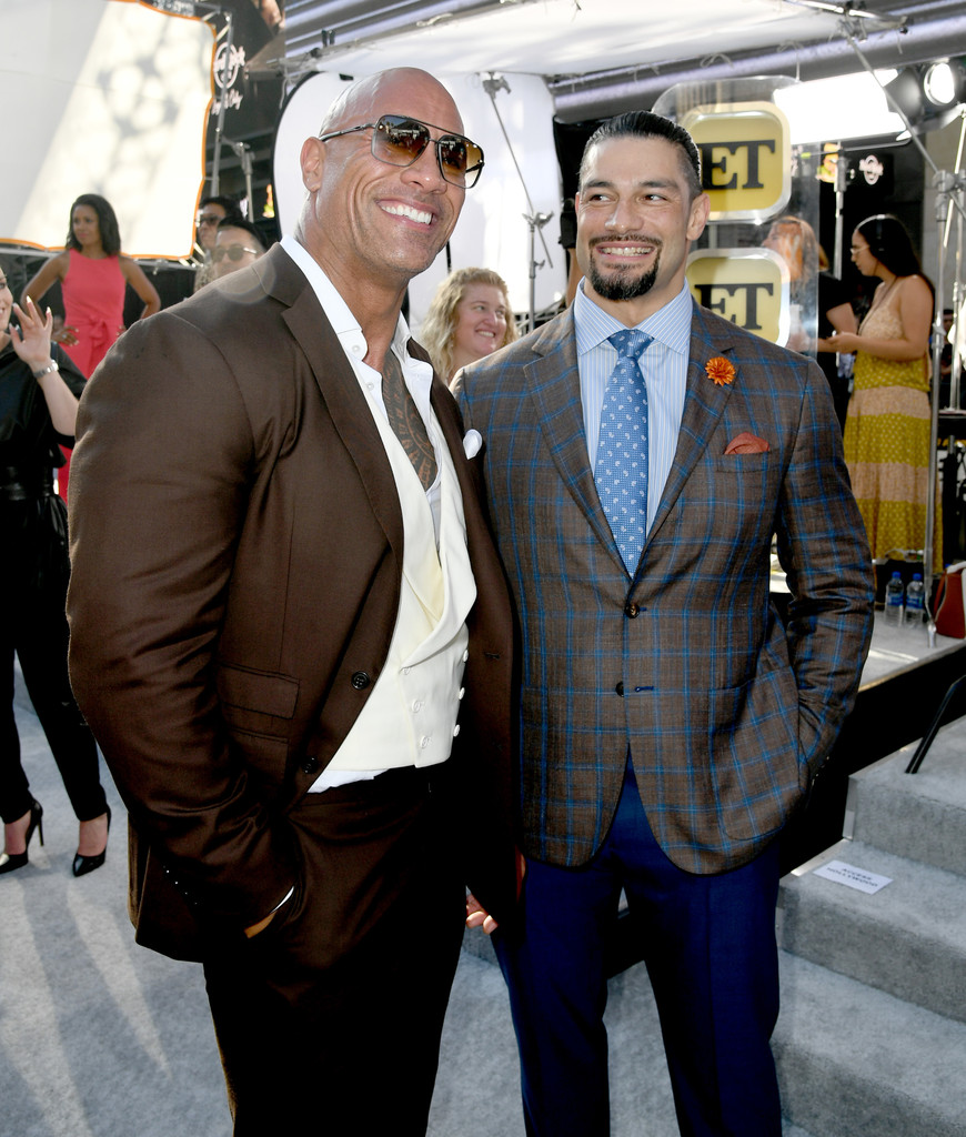 Dwayne Johnson and Roman Reigns Fast and Furious Presents Hobbs and Shaw World Premiere Hollywood Los Angeles