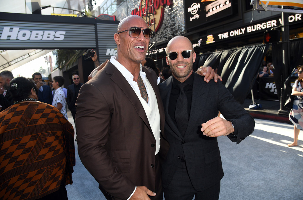 Dwayne Johnson and Jason Statham Fast and Furious Presents Hobbs and Shaw World Premiere Hollywood Los Angeles