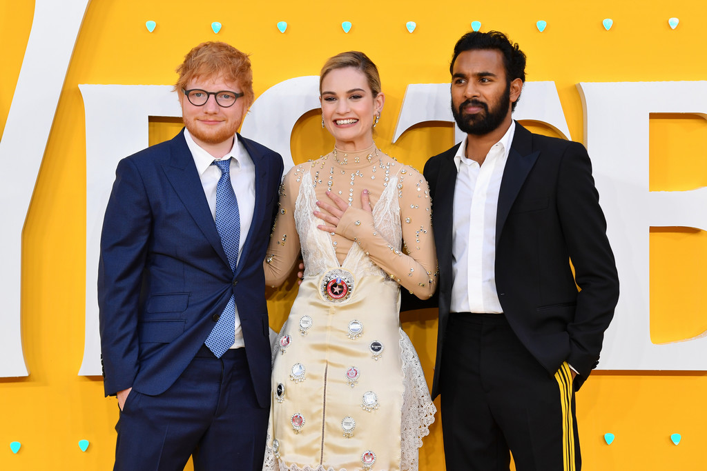 Ed Sheeran, Lily James and Himesh Patel Yesterday World Premiere London