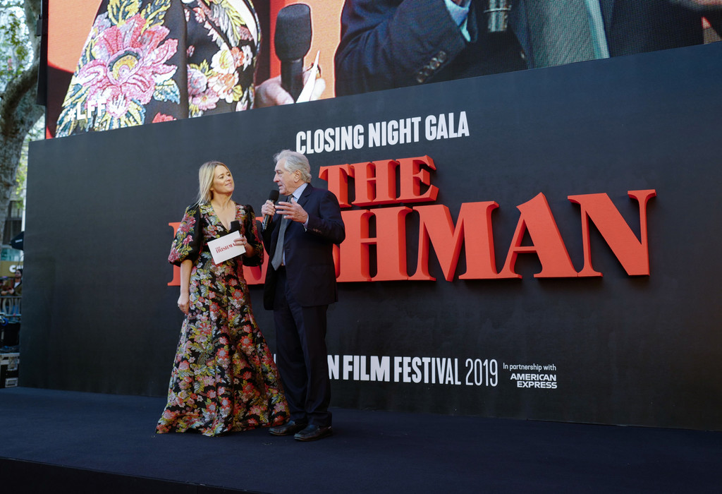 Edith Bowman and Robert De Niro The Irishman UK Premiere BFI London Film Festival