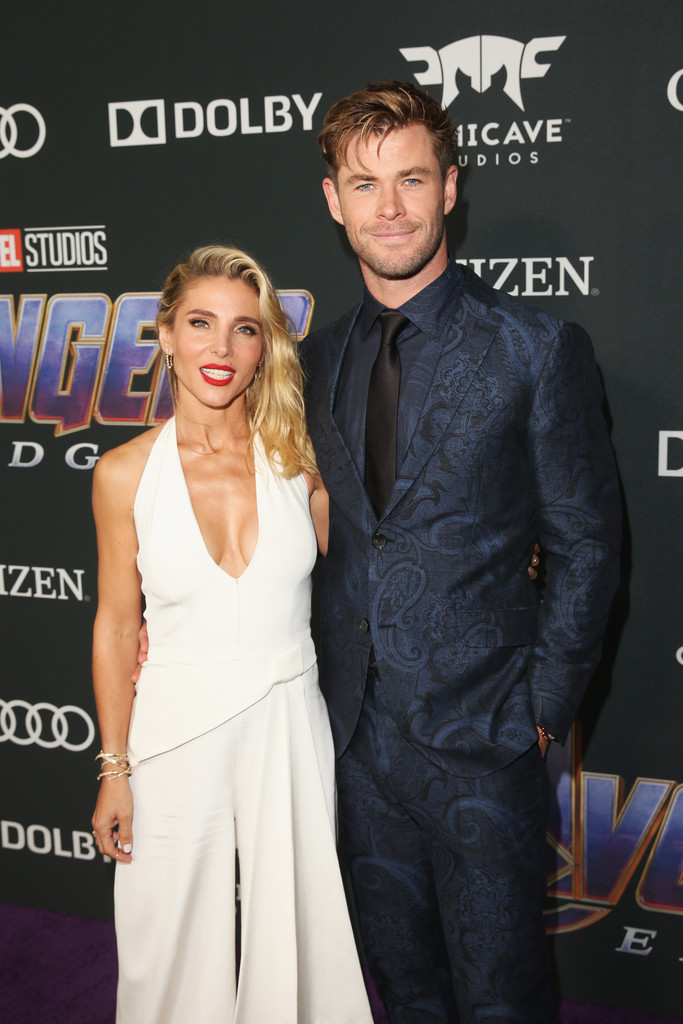 Elsa Pataky and Chris Hemsworth Marvel Avengers Endgame World Premiere Los Angeles Hollywood