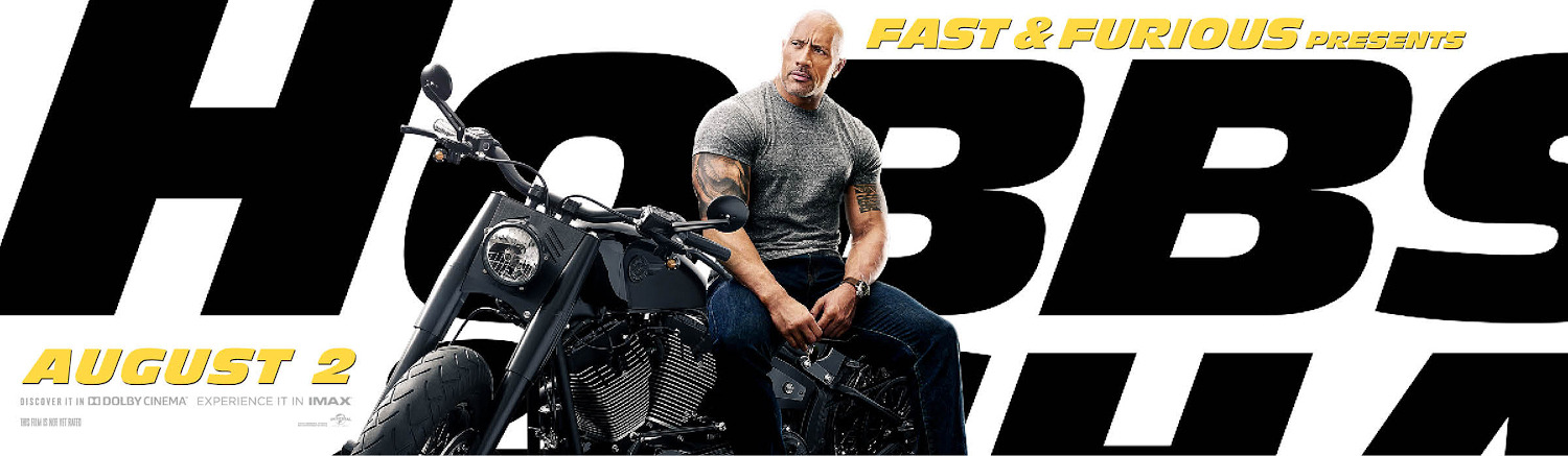 Fast and Furious presents Hobbs and Shaw Character Posters Dwayne Johnson as Luke Hobbs Banner