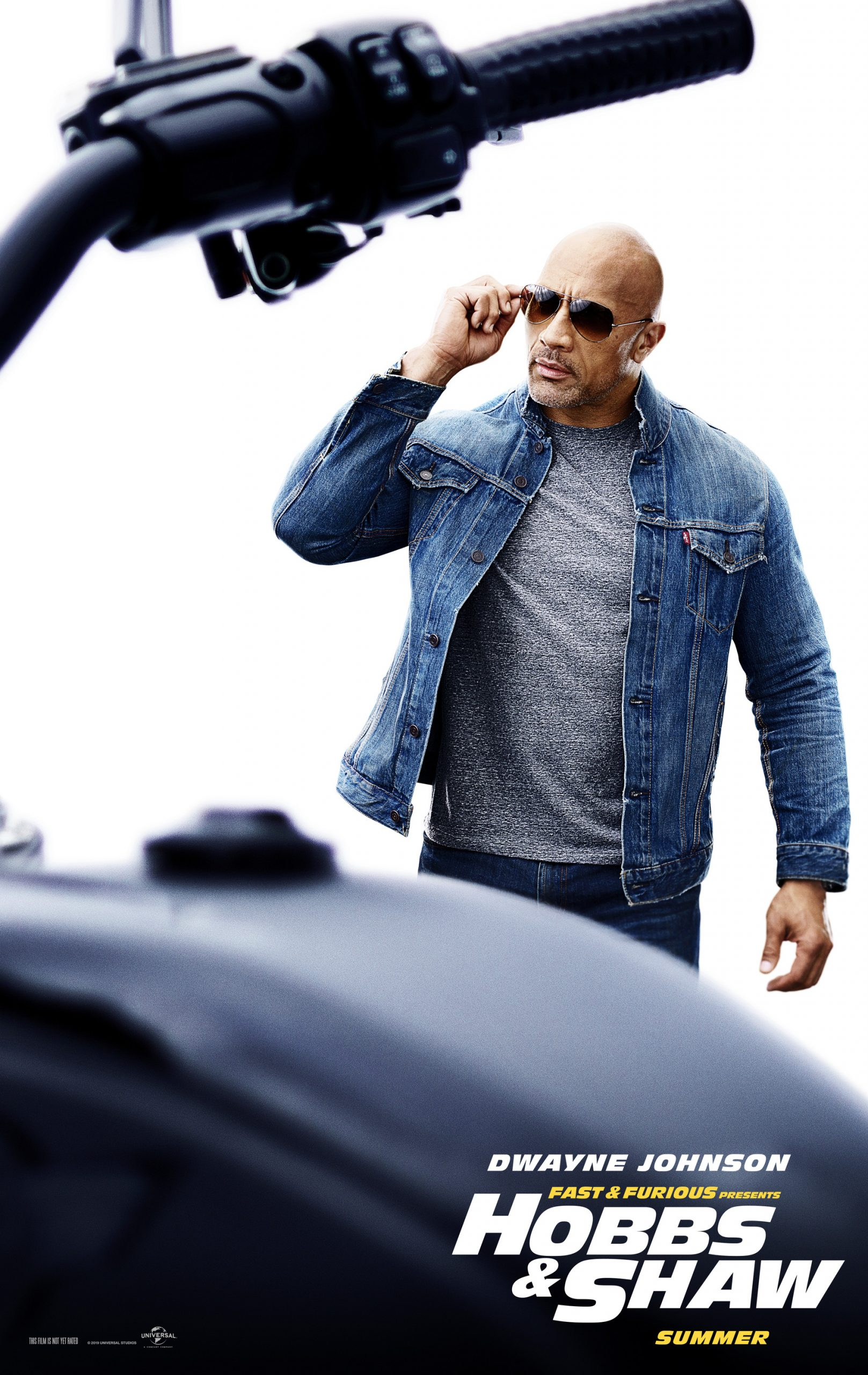 Fast and Furious presents Hobbs and Shaw Character Posters Dwayne Johnson as Luke Hobbs