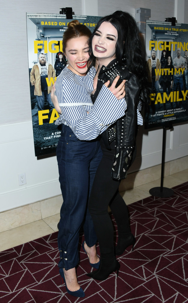 Florence Pugh and Paige Knight Fighting with My Family Los Angeles Tastemaker Screening