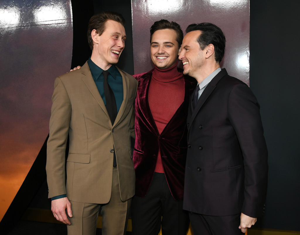 George Mackay, Dean-Charles Chapman and Andrew Scott 1917 Hollywood Premiere Los Angeles Universal Pictures
