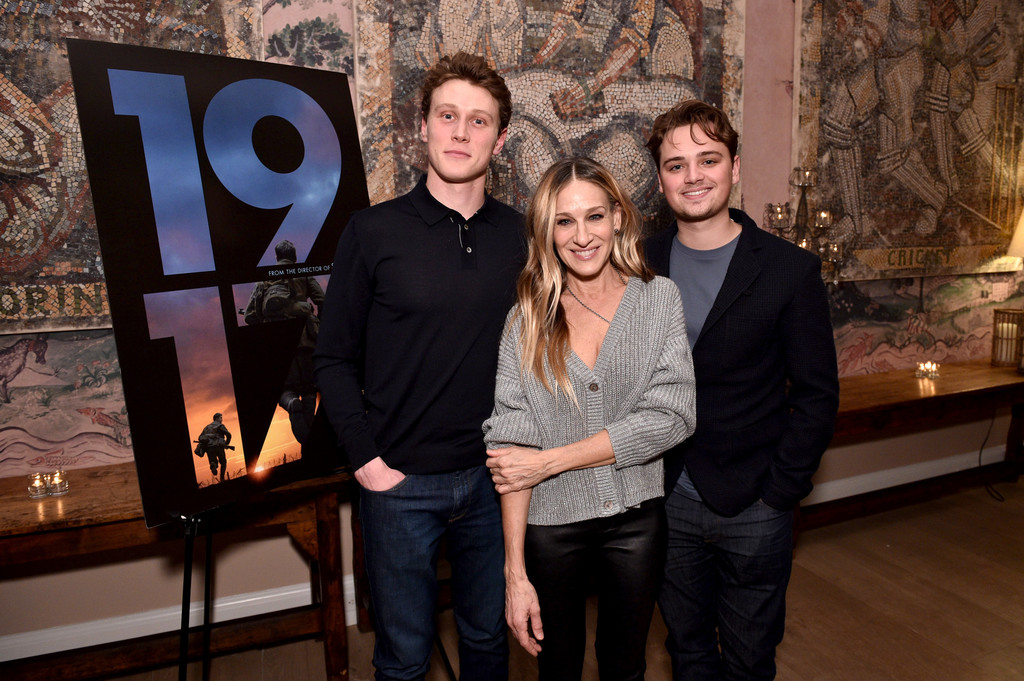 George Mackay, Sarah Jessica Parker and Dean-Charles Chapman 1917 New York City Special Screening