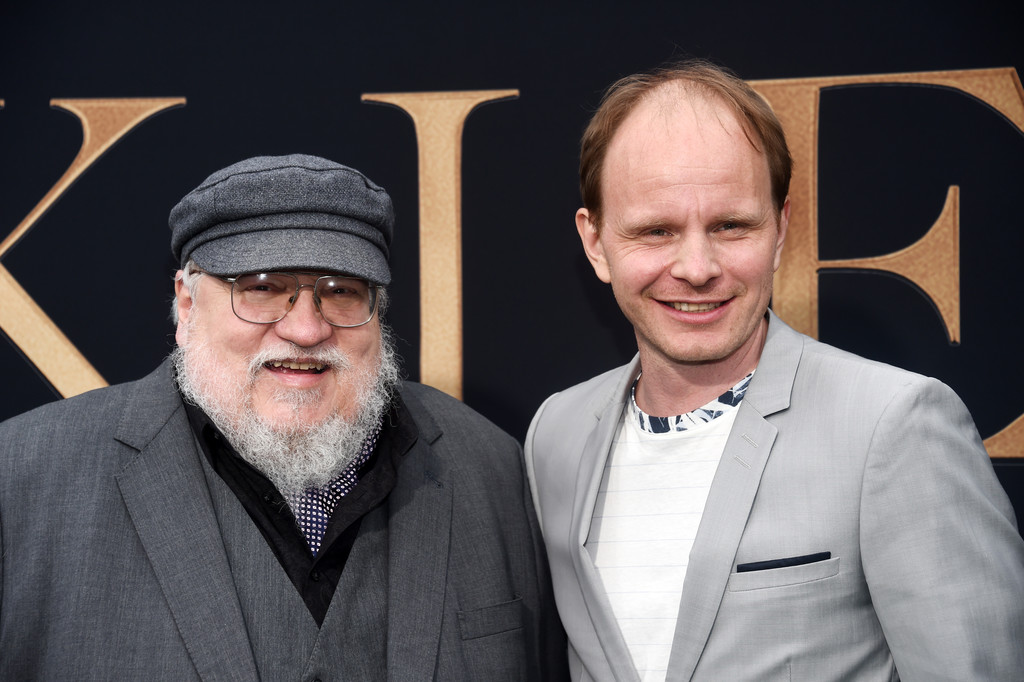 George R. R. Matrin and Dome Karukoski Tolkien Los Angeles Premiere