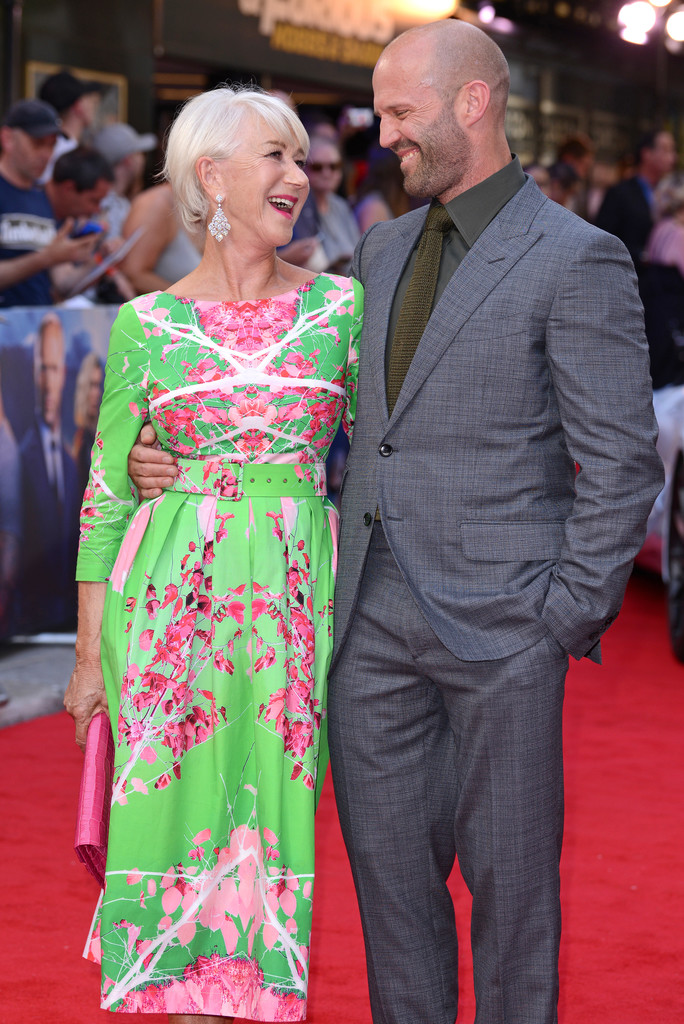 Helen Mirren and Jason Statham Fast and Furious Presents Hobbs and Shaw UK Premiere London Arrivals