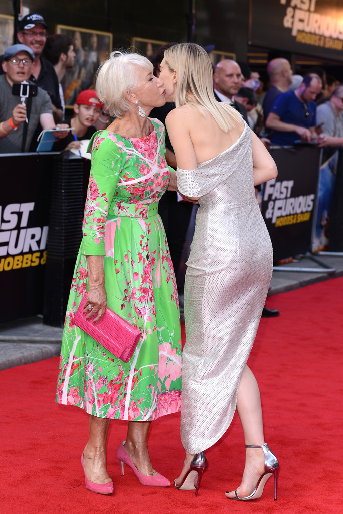 Helen Mirren and Vanessa Kirby Fast and Furious Presents Hobbs and Shaw UK Premiere London Arrivals