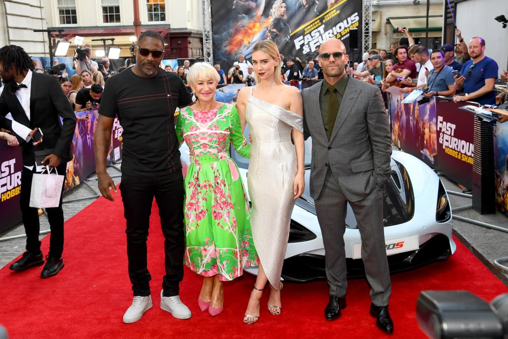 Idris Elba, Dame Helen Mirren, Vanessa Kirby and Jason Statham Fast and Furious Presents Hobbs and Shaw UK Premiere London Arrivals