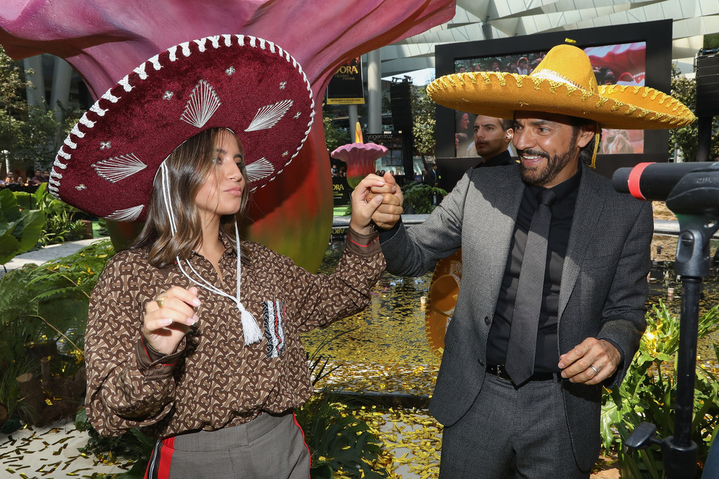 Isabela Moner and Eugenio Derbez Dora and the Lost City of Gold Mexico Premiere 2