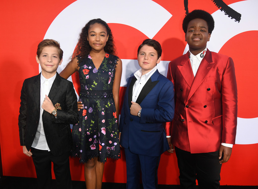 Jacob Tremblay, Millie David, Brady Noon and Keith L. Williams Good Boys Los Angeles Premiere