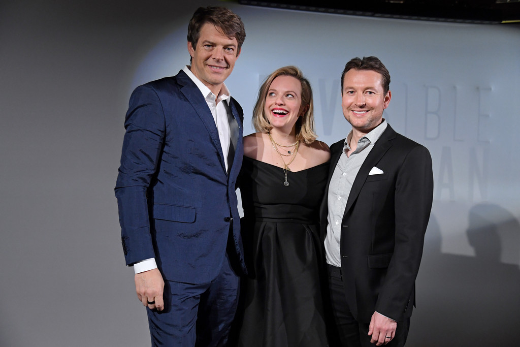 Jason Blum, Elisabeth Moss and Leigh Whannell The Invsisible Man Paris Premiere France